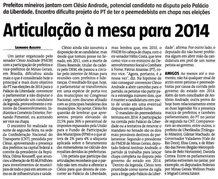 Estado de Minas 30 de janeiro 2013