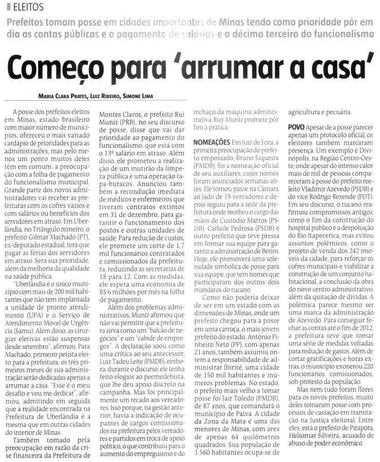 Estado de Minas 2 de janeiro 2013