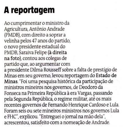 Estado de Minas 26 de março 2013