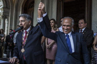 Fernando Pimentel e Antônio Andrade foram empossados governador e vice-governador de Minas Gerais
