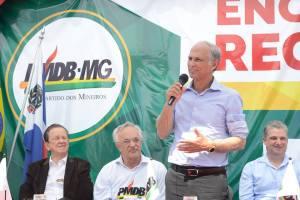 Evento contou com a presença de importantes nomes do partido no Estado, como o vice-governador Antônio Andrade e o presidente da Assembleia Legislativa de Minas Gerais, Adalclever Lopes
