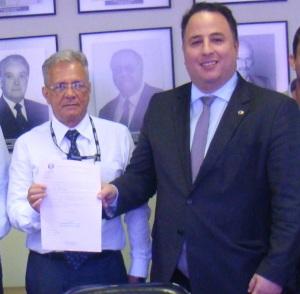 Reunião no DER - com o diretor Célio Dantas