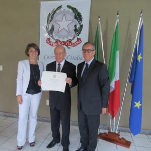 Ministro Conselheiro da Embaixada da Itália em Brasília, Filippo La Rosa, secretário Angelo Oswaldo e cônsul Aurora Russi (1)