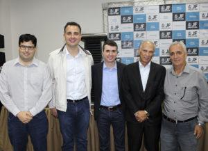 António Andrade, Rodrigo Pacheco e Bruno Siqueira prestigiaram o evento