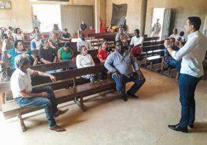 Deputado promoveu reuniões e visitas em Caetanópolis. Foto por Laila Gusmão