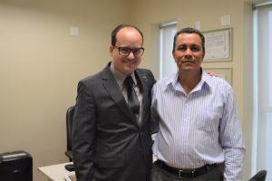 Deputado Thiago Cota e o prefeito de Catas Altas, Parreira