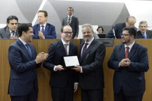 João Vítor Xavier (deputado estadual PSDB/MG), Thiago Cota (deputado estadual PMDB/MG), Celso Cota Neto (ex-presidente da Amig e ex-prefeito de Mariana), Fábio Ramalho (deputado federal PMDB/MG)